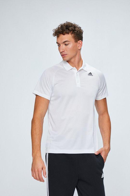 biela adidas Performance - Pánske polo tričko Pánsky