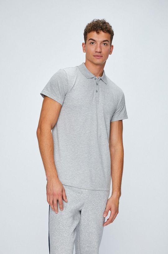 sivá adidas Performance - Pánske polo tričko Pánsky