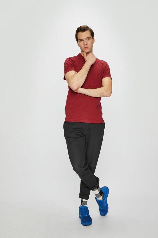 adidas Performance - T-shirt gesztenyebarna