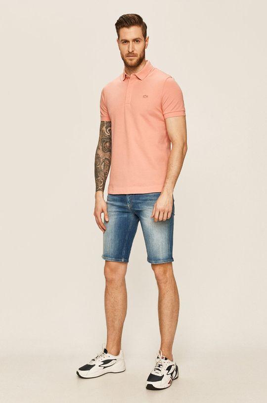 Lacoste - Tricou Polo roz