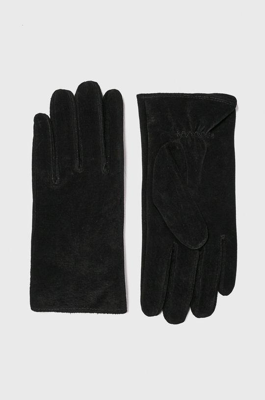 černá Pieces - Kožené rukavice Dámský