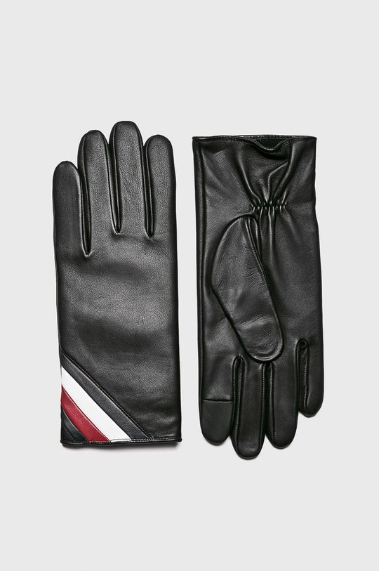 čierna Tommy Hilfiger - Kožené rukavice Pánsky