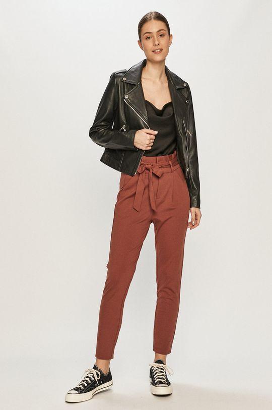 Vero Moda - Spodnie brązowy