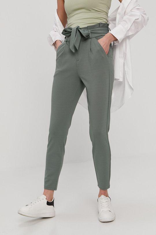 oceľová zelená Vero Moda - Nohavice Dámsky