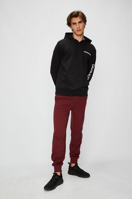 Calvin Klein Jeans - Kalhoty kaštanová