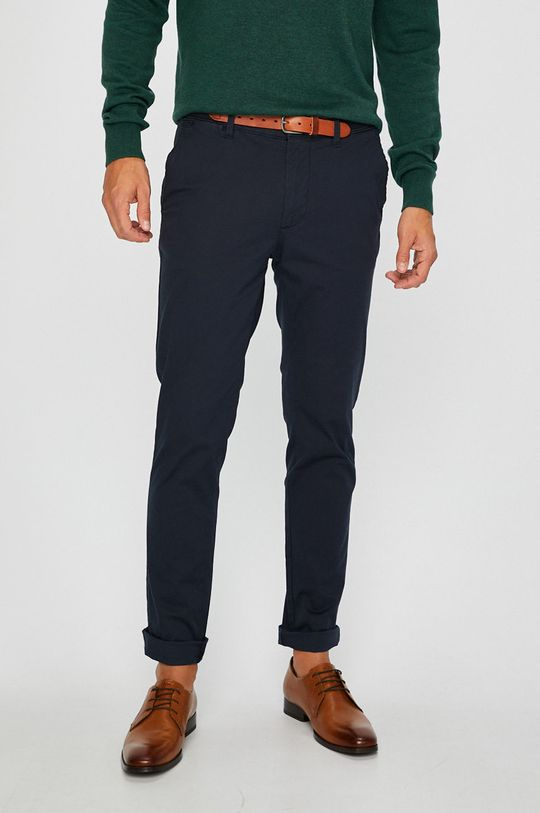 granatowy Selected - Spodnie Męski