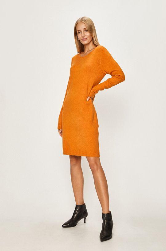 Vila - Sukienka pomarańczowy
