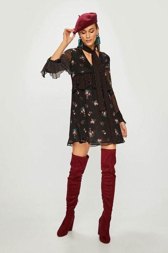 Pinko - Šaty  Podšívka: 100% Polyester Materiál č. 1: 100% Viskóza Materiál č. 2: 100% Polyester