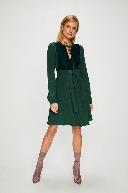 Pinko - Šaty ocelová zelená