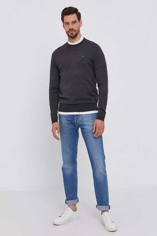 Tommy Hilfiger - Sweter szary