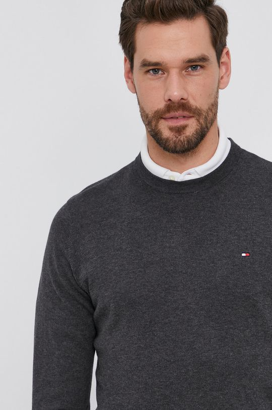 szary Tommy Hilfiger - Sweter