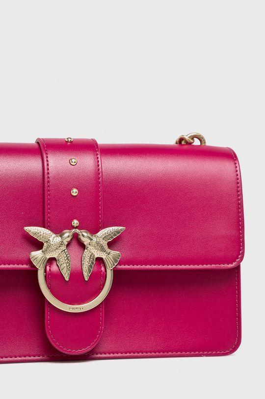 Pinko - Kožená kabelka fuchsiová