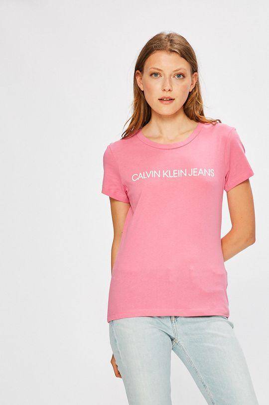 růžová Calvin Klein Jeans - Top Dámský