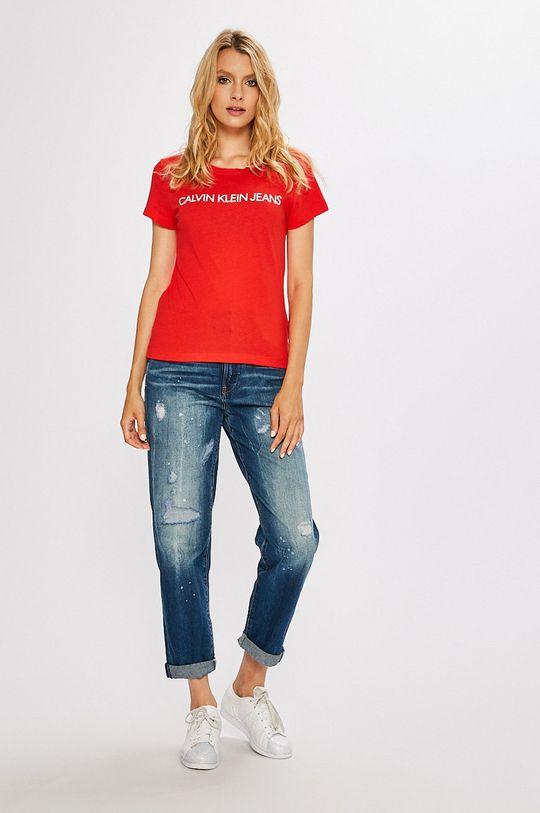 Calvin Klein Jeans - Top červená