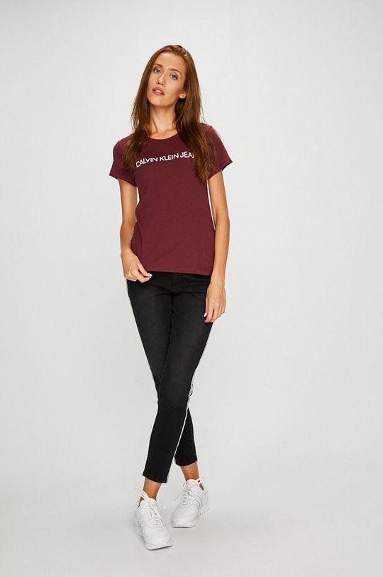Calvin Klein Jeans - Top mahagonová