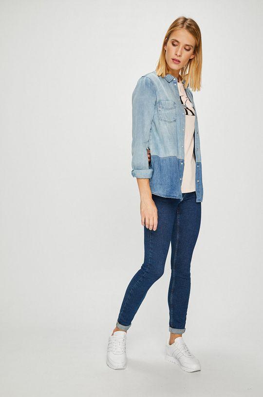 Calvin Klein Jeans - Top pastelově růžová
