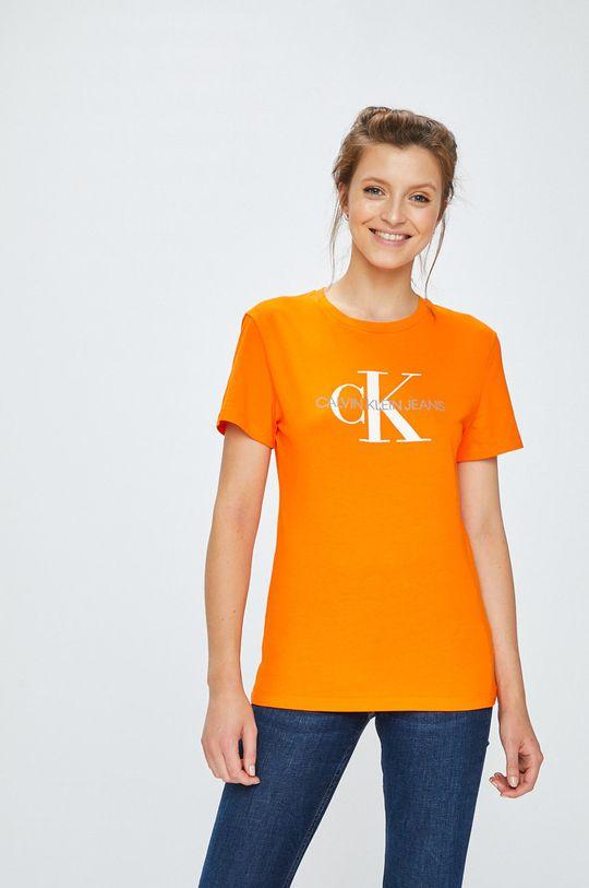 oranžová Calvin Klein Jeans - Top Dámský