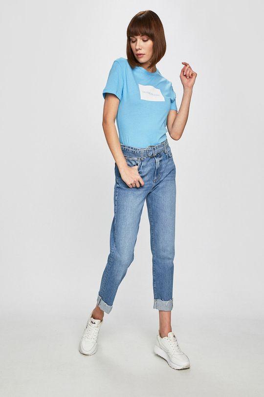 Calvin Klein Jeans - Top světle modrá