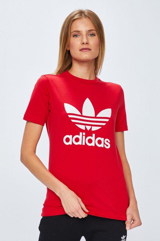 червен adidas Originals - Топ Жіночий