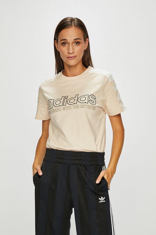 телесен adidas Originals - Топ Жіночий