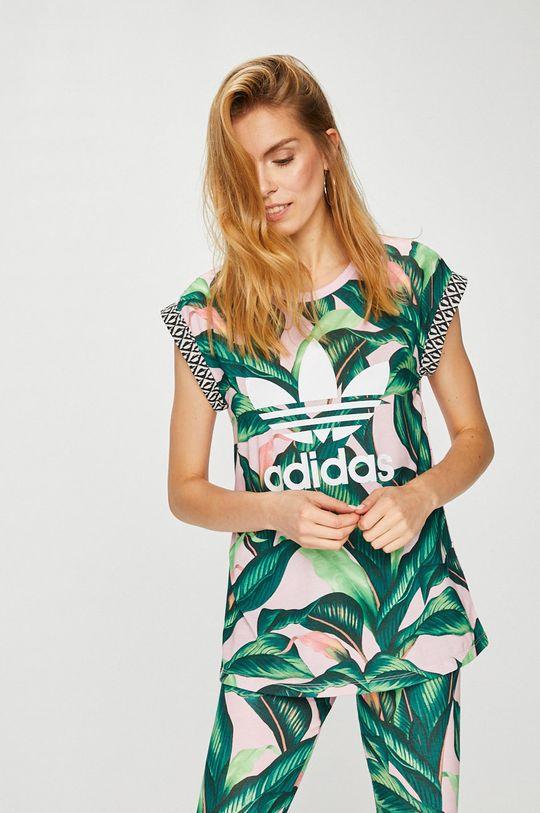 зелен adidas Originals - Топ Жіночий