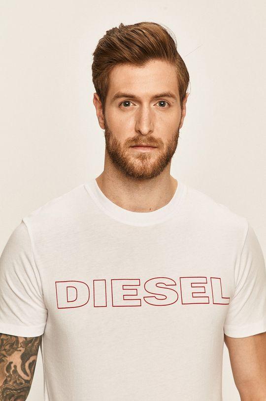 biały Diesel - T-shirt Męski