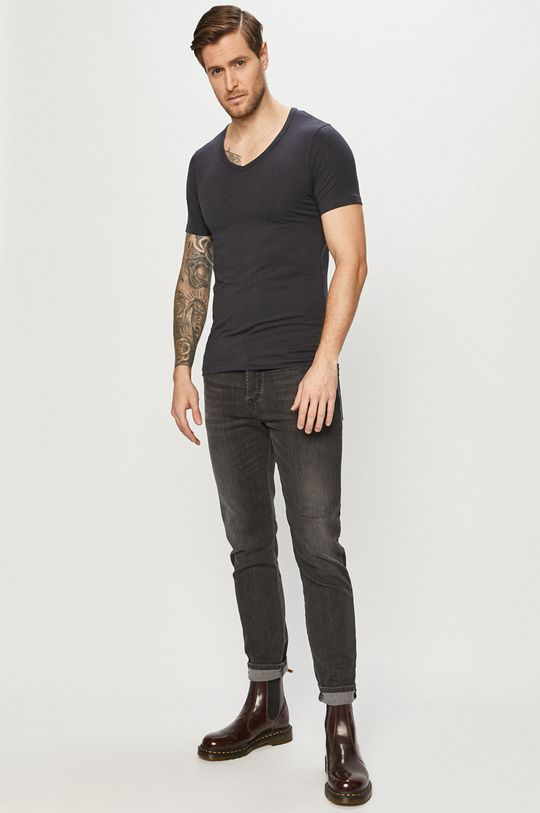 Jack & Jones - Pánske tričko tmavomodrá