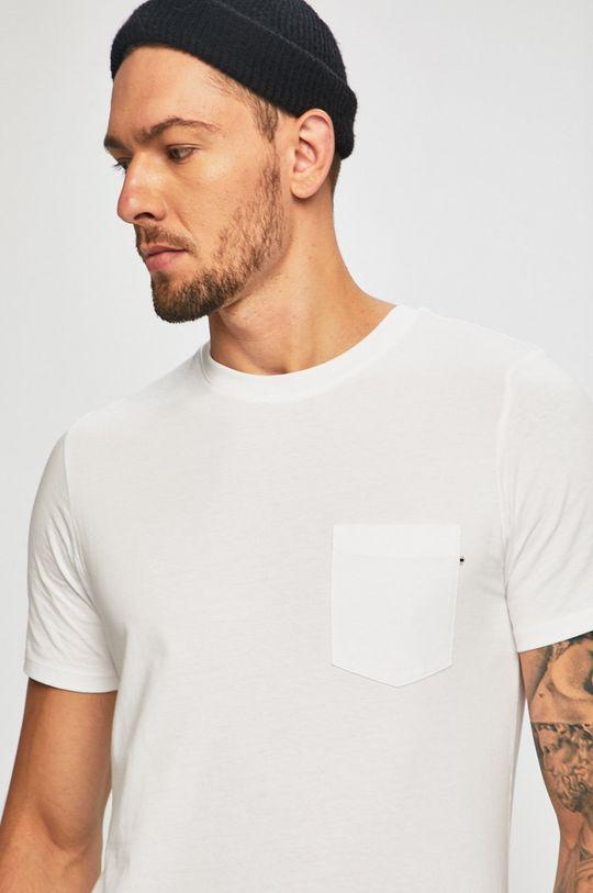 biela Jack & Jones - Pánske tričko Pánsky