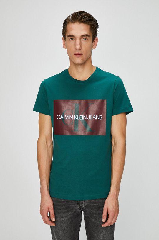 tyrkysová Calvin Klein Jeans - Tričko Pánský