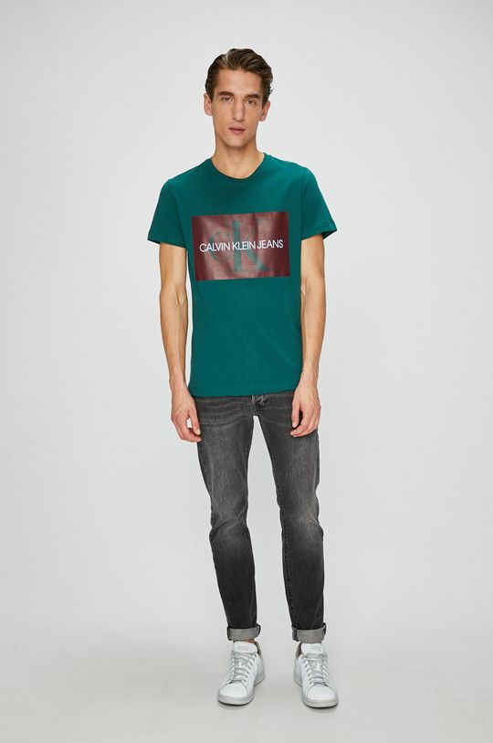 Calvin Klein Jeans - Tričko tyrkysová