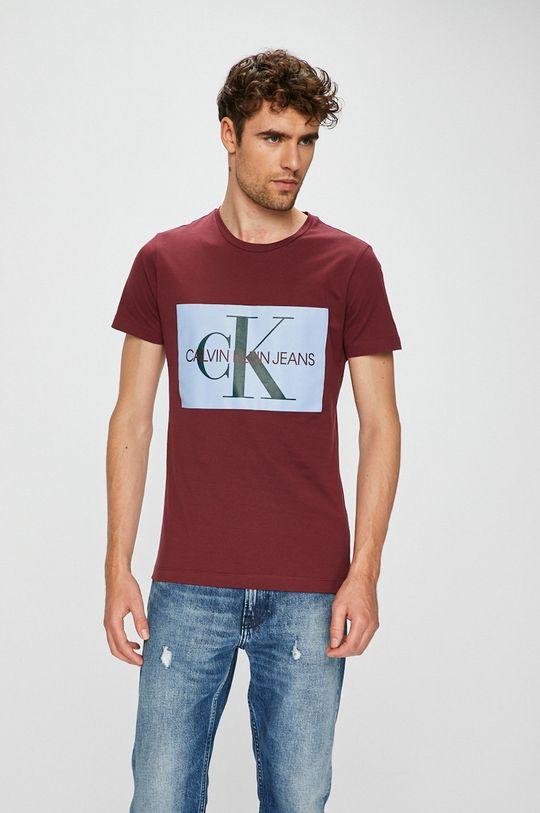 mahagonová Calvin Klein Jeans - Tričko Pánský