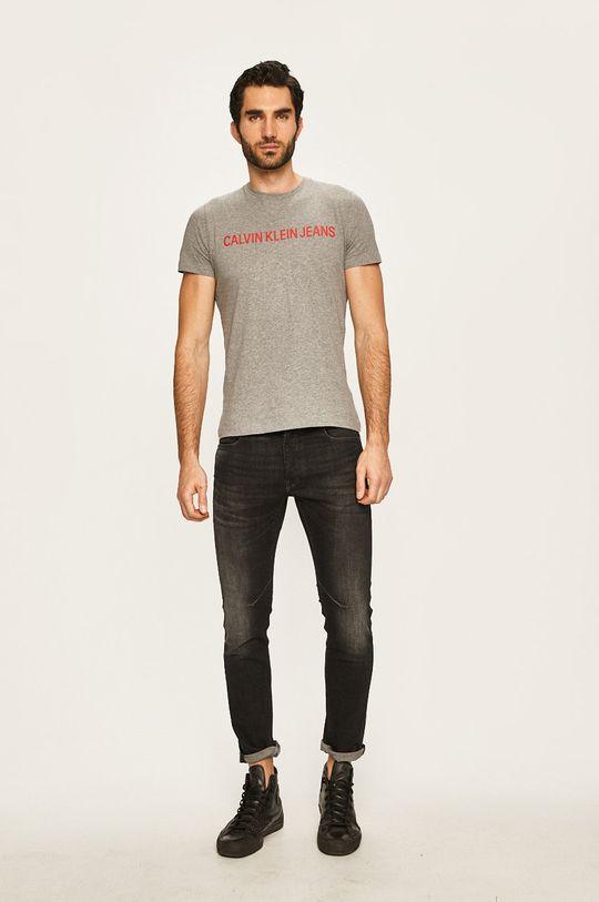 Calvin Klein Jeans - T-shirt jasny szary