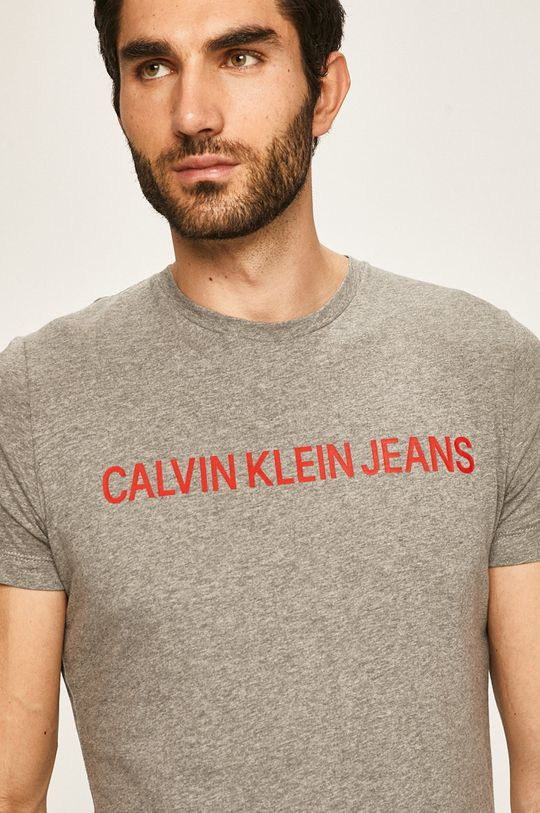 jasny szary Calvin Klein Jeans - T-shirt
