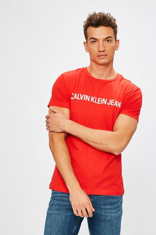 červená Calvin Klein Jeans - Tričko Pánský