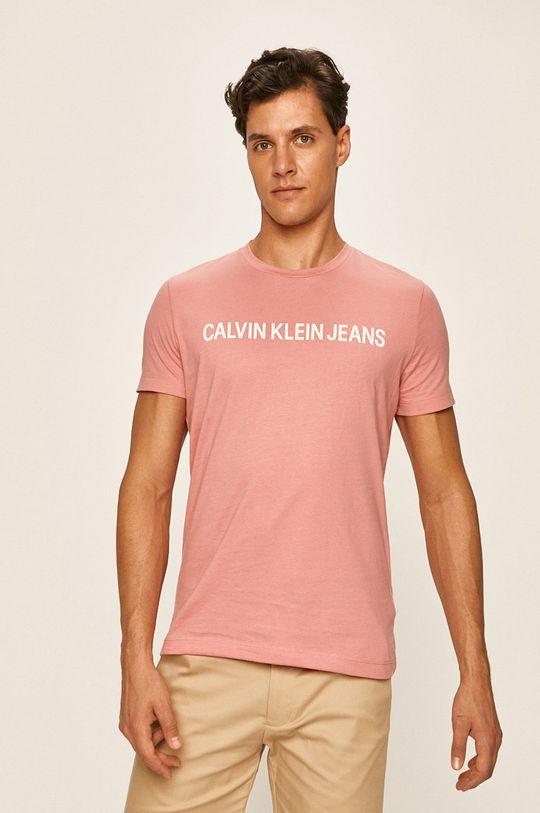 starorůžová Calvin Klein Jeans - Tričko Pánský