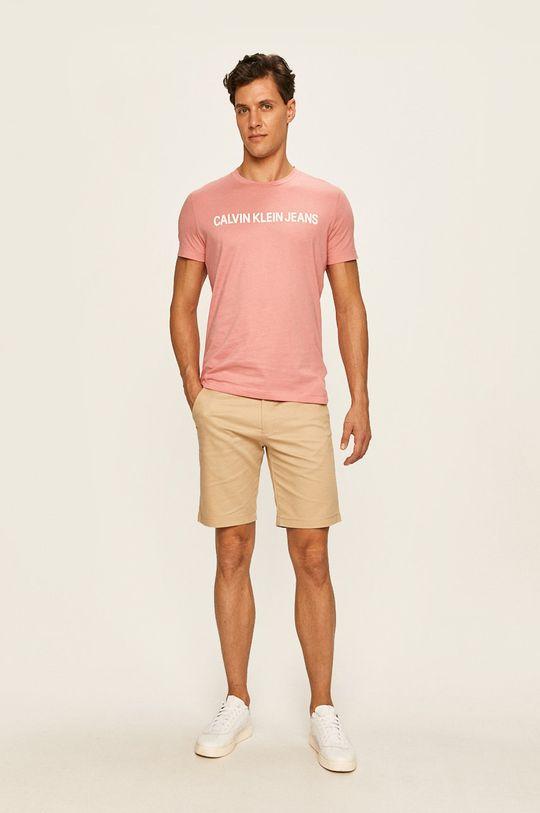 Calvin Klein Jeans - Tričko starorůžová