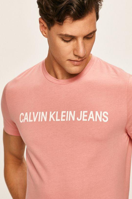 starorůžová Calvin Klein Jeans - Tričko