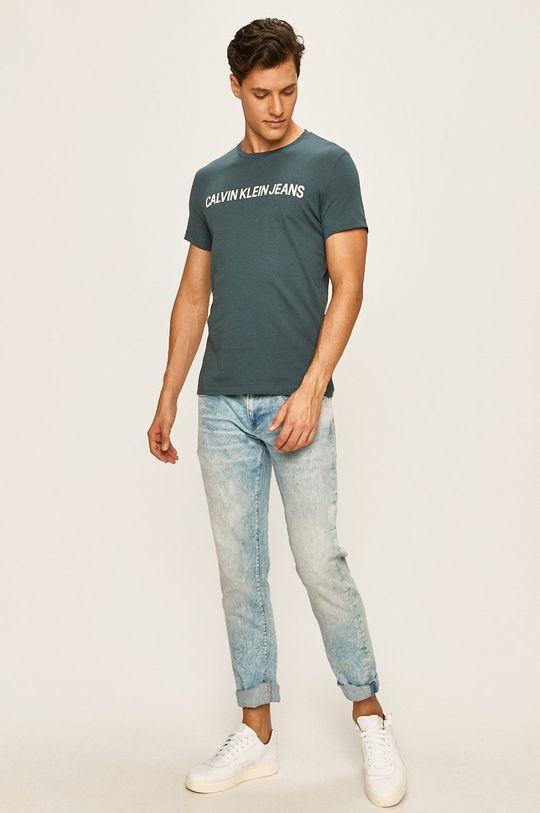 Calvin Klein Jeans - Tričko ocelová modrá