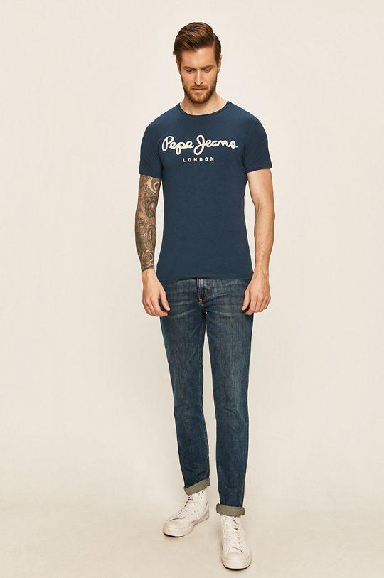 Pepe Jeans - Pánske tričko tmavomodrá