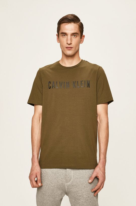 okrová Calvin Klein Performance - Tričko Pánský