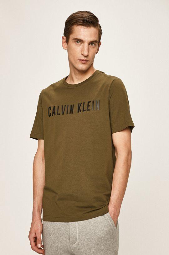 okrová Calvin Klein Performance - Tričko