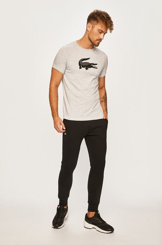Lacoste - Pánske tričko sivá