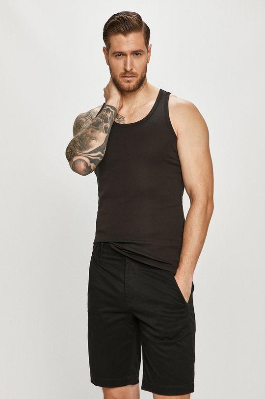 czarny G-Star Raw - T-shirt (2-pack) Męski