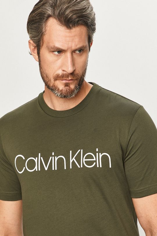 oliwkowy Calvin Klein - T-shirt Męski