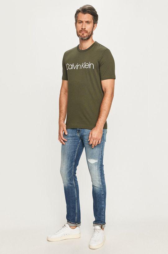 Calvin Klein - T-shirt oliwkowy