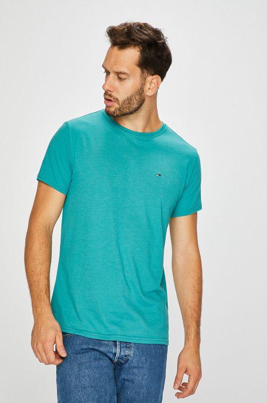 jasny turkusowy Tommy Jeans - T-shirt Męski