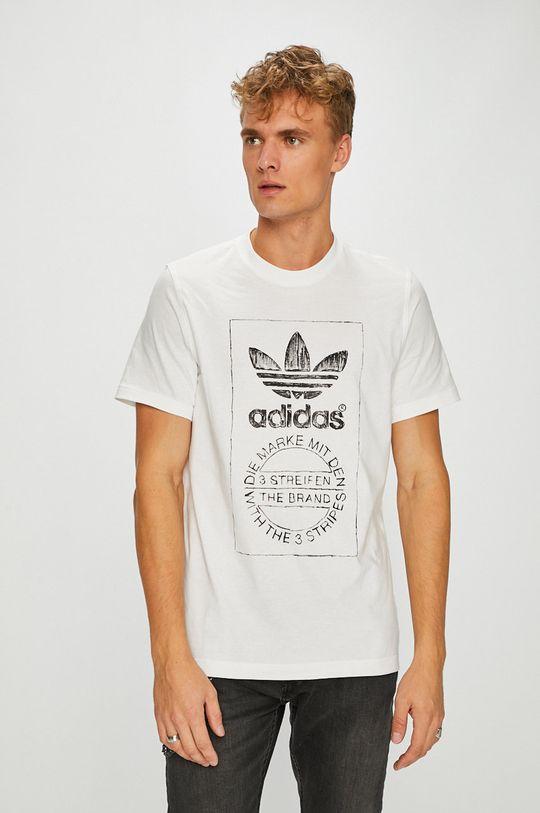 бял adidas Originals - Тениска Чоловічий