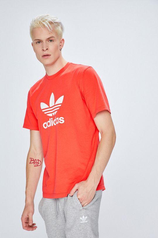 koral színű adidas Originals - T-shirt Férfi