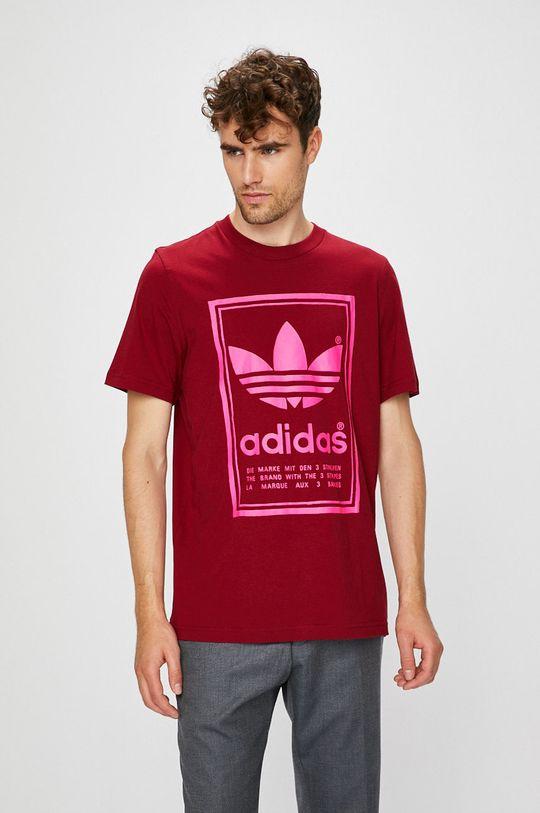 gaštanová adidas Originals - Pánske tričko Pánsky