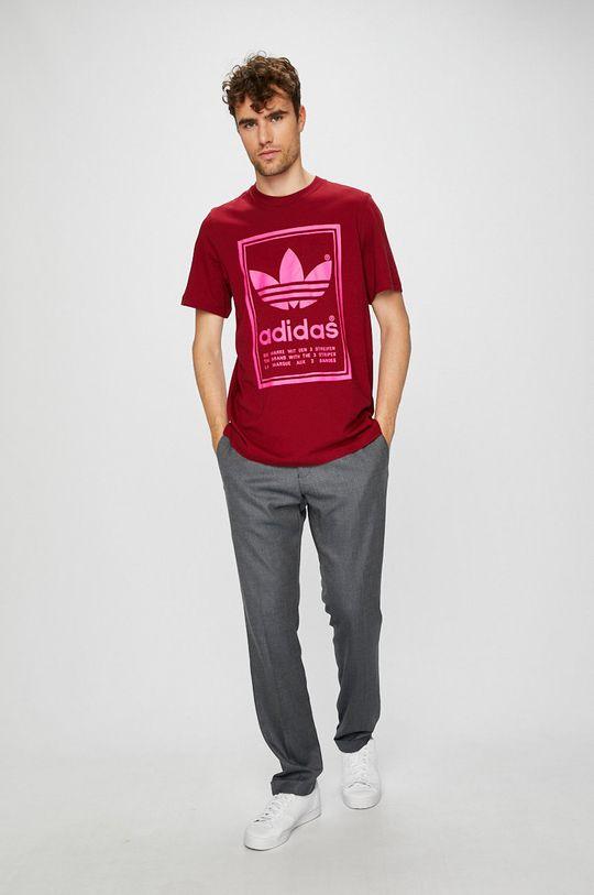 adidas Originals - Pánske tričko gaštanová